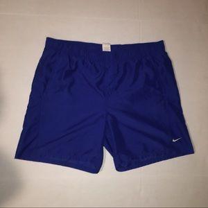 Vintage 90s Nike Blue Nylon Shorts - Mens - Large